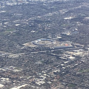 Apple Campus 2 airplane view